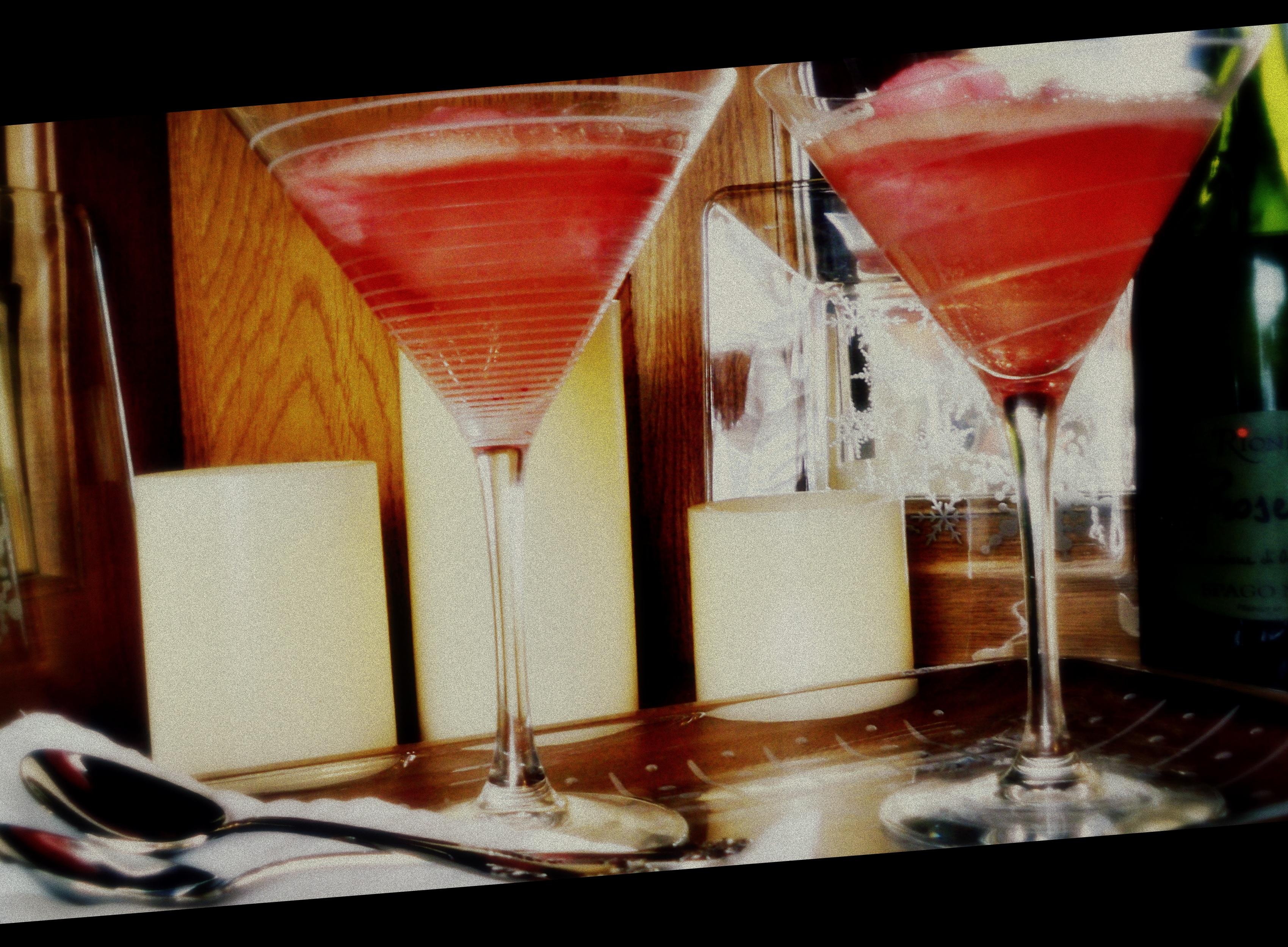 cranberry royale ~ drink & dessert