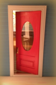 Love my new pink front door!