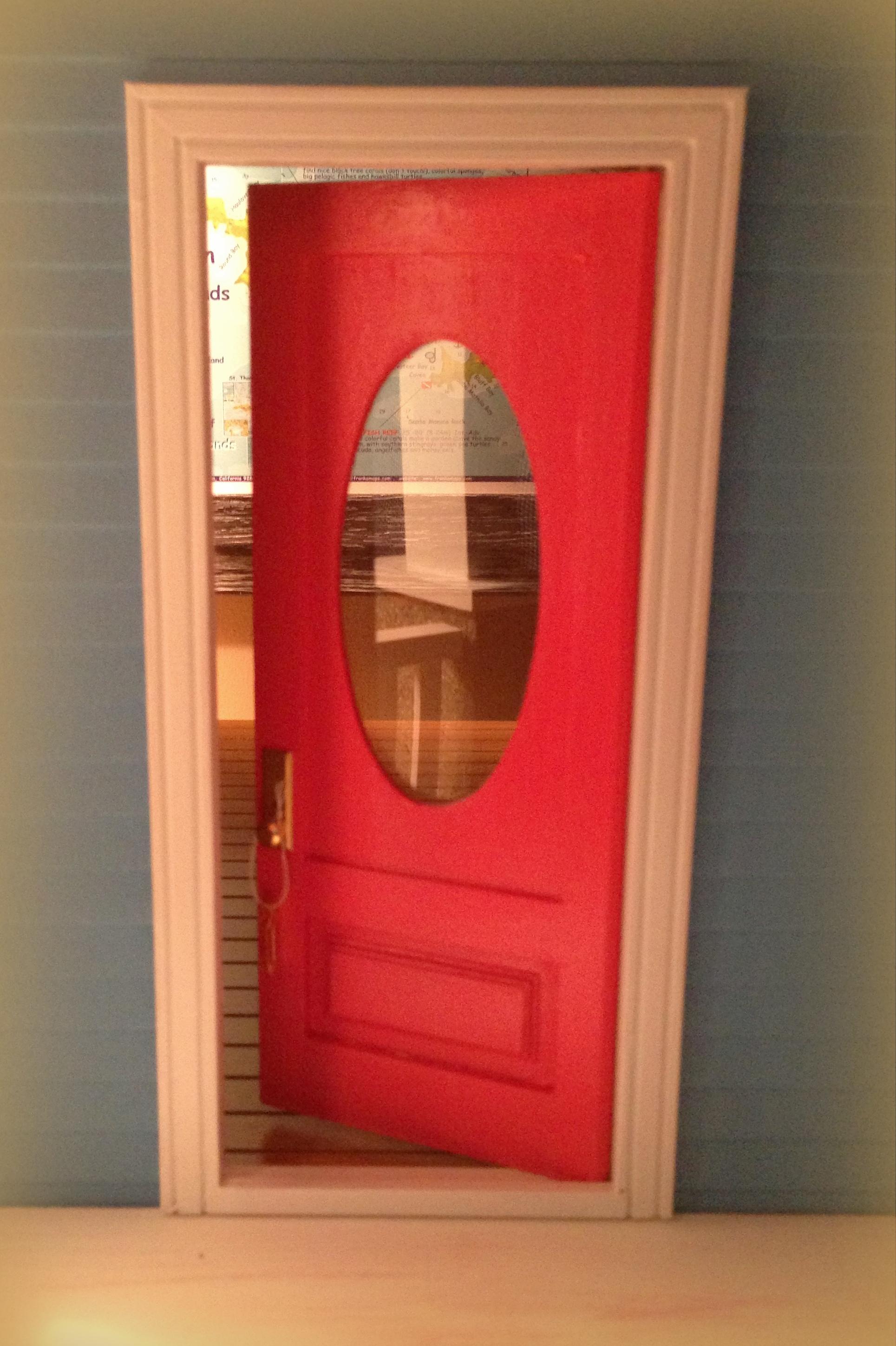 Love my new pink front door!