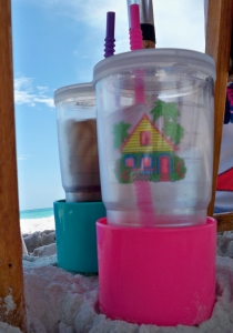 Tervis tumbers and sand spike cup holder!