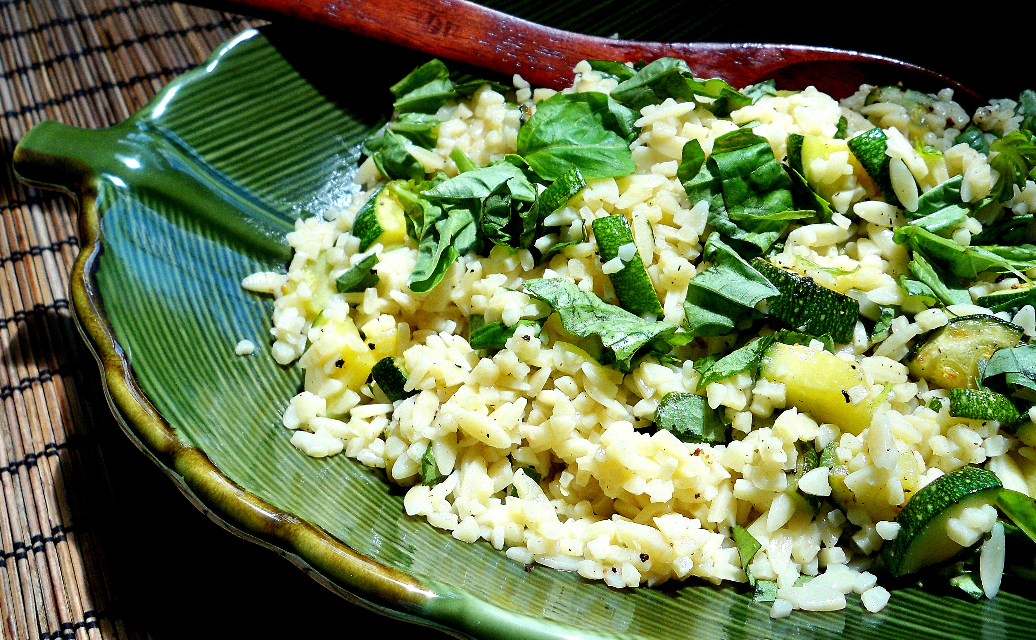 orzo and zucchini ~ perfect summer side