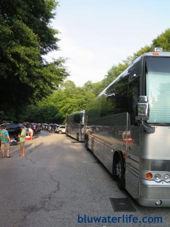 Buffett tour crew bus