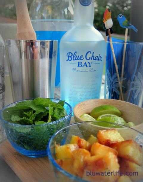 grilled pineapple mojitos ~