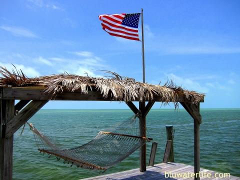 Moorings Village Islamorada FL dock hammock