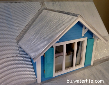 Miniature beach cottage tin roof
