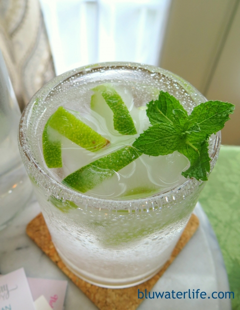 lime & mint infused water ~