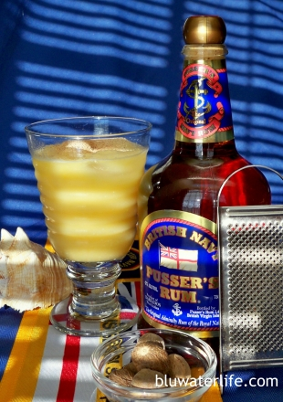 Painkiller drink with Pusser's rum