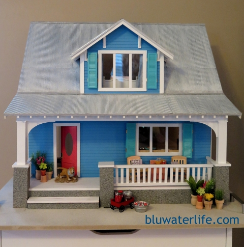 Miniature beach cottage tin roof