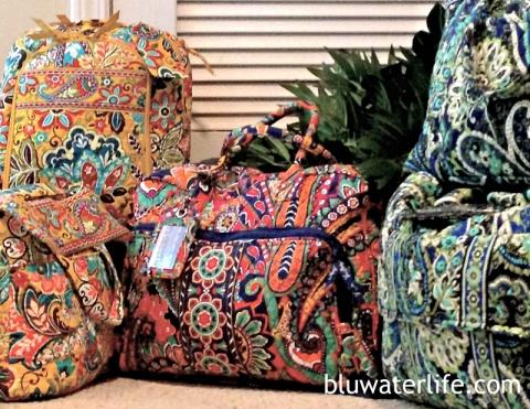 Vera Bradley travel bags