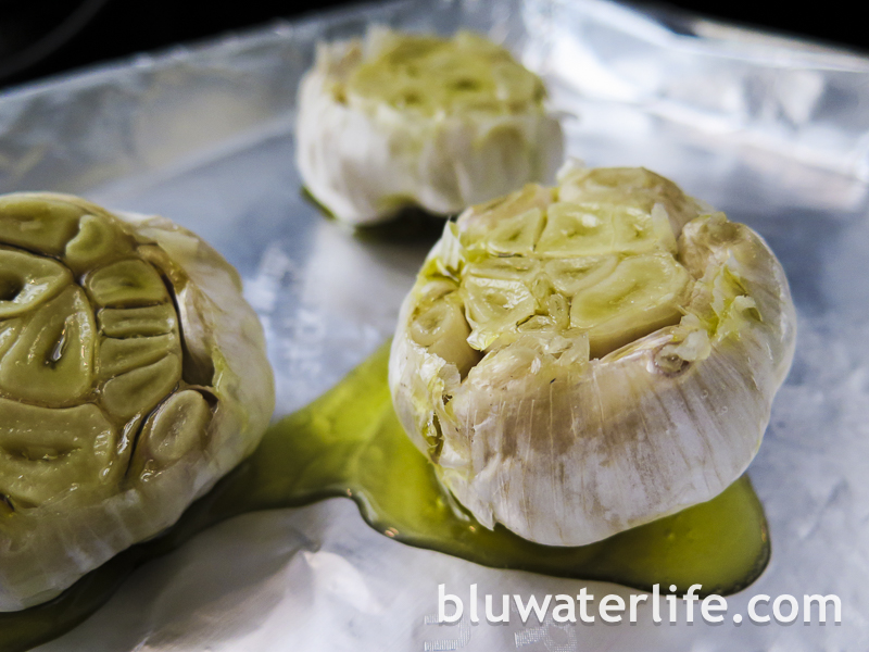 roasted garlic butter ~