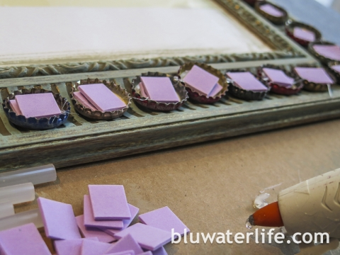DIY Bottlecap Mirror Frame