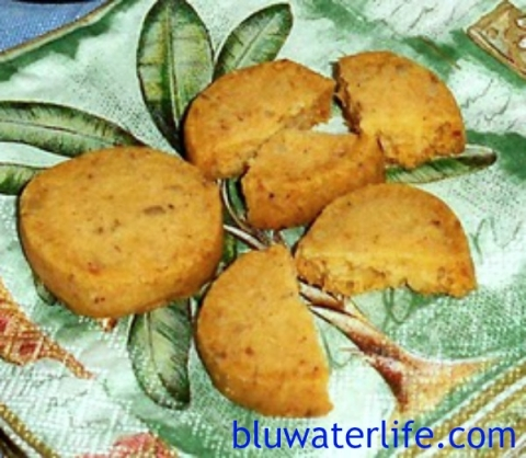 Slice and bake cheese wafers