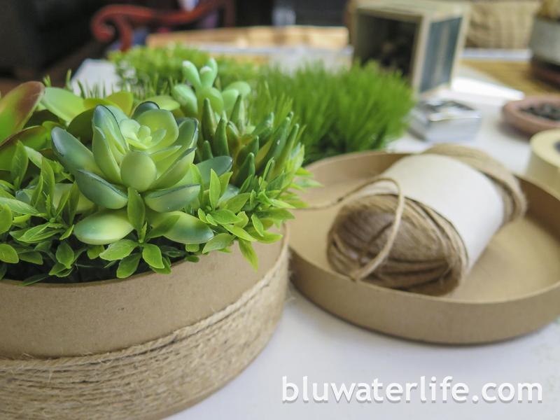 diy faux succulent planter ~
