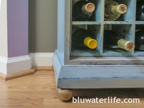 Chalk Painted Bar Cabinet