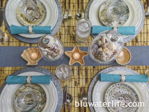 Tiki Style Table Setting