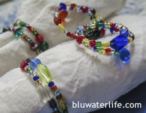 DIY Beaded Napkin Rings