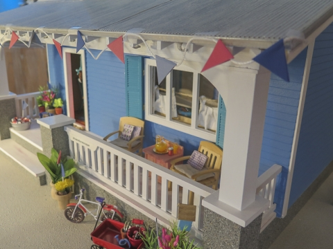 Miniature beach cottage