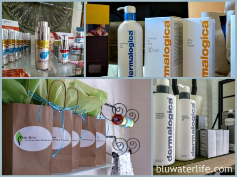 Spa Product Collage