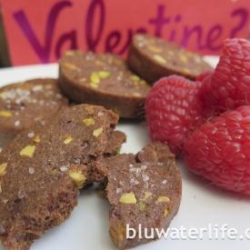 chocolate pistachio cookies ~