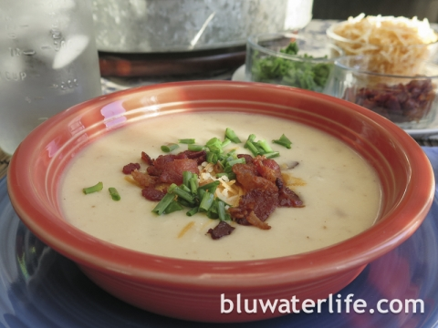 loaded potato soup ~