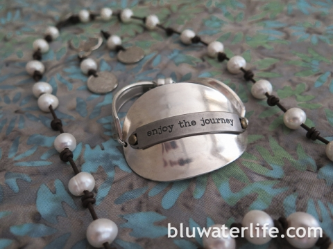 pearl and leather jewelry ~ bluwaterstyle