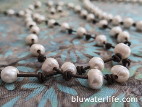 Pearl and Leather Jewelry