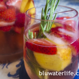 strawberry sangria ~ two ways!