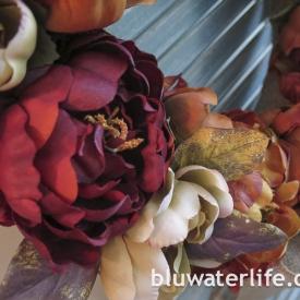 fall color wreath ~